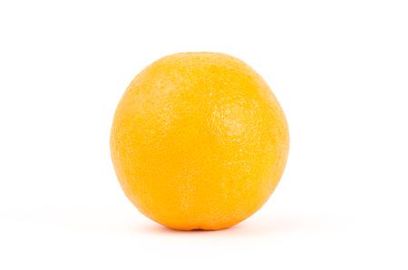navel orange: Fresh Navel orange fruit on white background Stock Photo