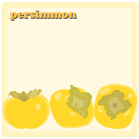 caqui: Persimmon vector background Ilustra��o