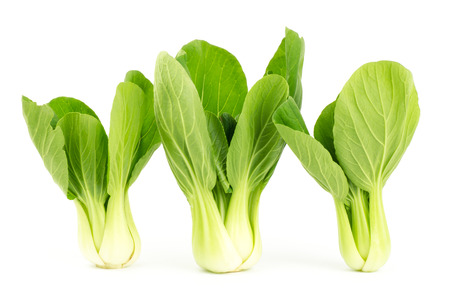 Fresh bok choy (chinese cabbage) on white background photo