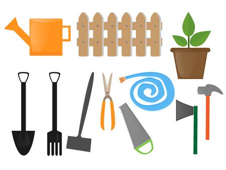 tillage: Herramientas de jardiner�a vector Vectores
