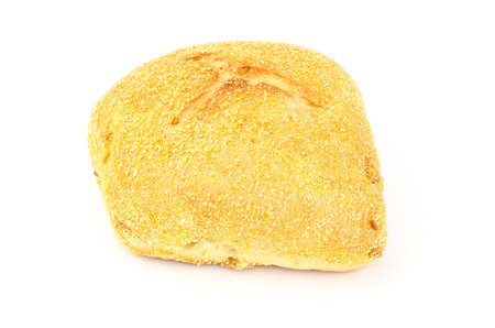 maize: Maize max roll bread on white background