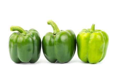 bell peper: Fresh sweet pepper,bell peper or capsicum on white background