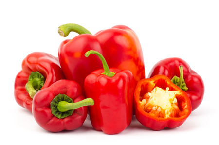 bell peper: Fresh sweet pepper,bell peper or capsicum on white background
