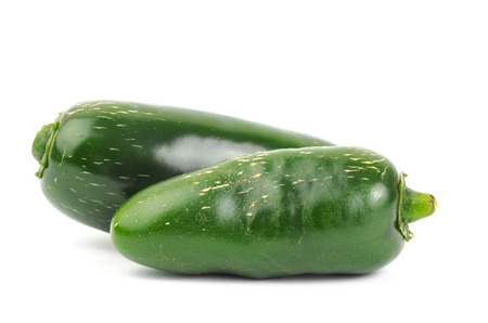 jalapeno pepper: Fresh jalapeno pepper or Mexican pepper on white background