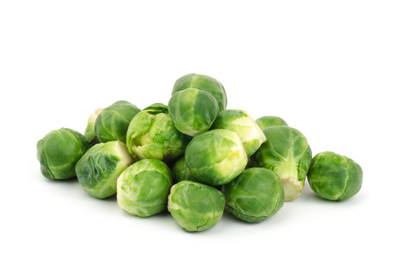 Fresh brussels sprout on white background Stock Photo