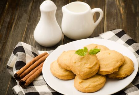 Homemade cookies for rest time photo