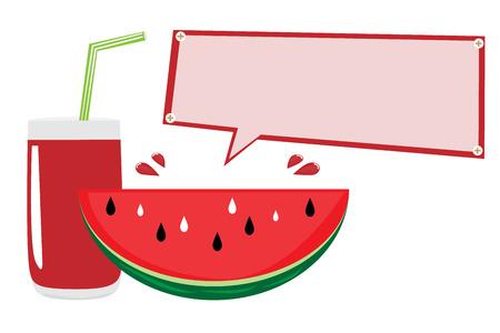 watermelon juice: Watermelon juice vector with text box