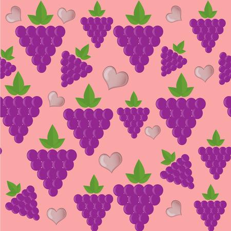grape fruit: Grape fruit seamless pattern background Illustration