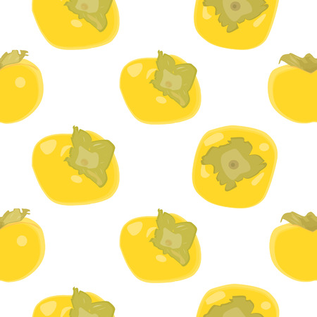 persimmon: Persimmon fruit seamless pattern vector background