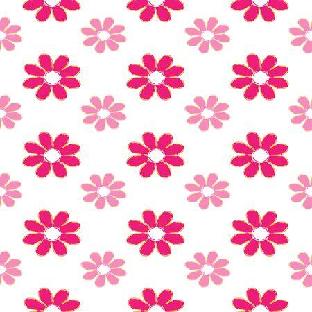 pink flower: Pink flower seamless pattern vector background