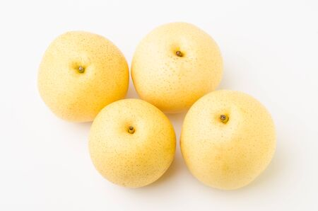 asian pear: Fresh asian pear on white background Stock Photo