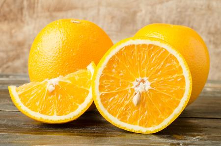 navel orange: Fresh navel orange fruit on wooden background,healthy food Stock Photo