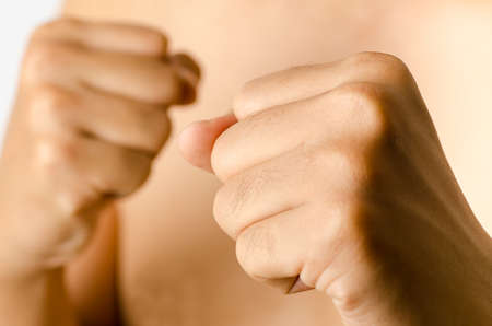 grappling: Mans fist,hand,fighting concept