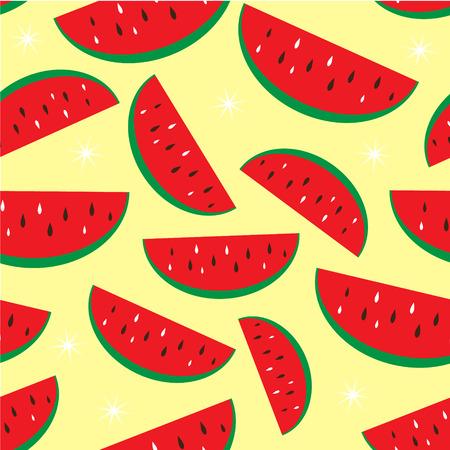Fond de vecteur transparente motif pastèque fruits tropicaux Vecteurs