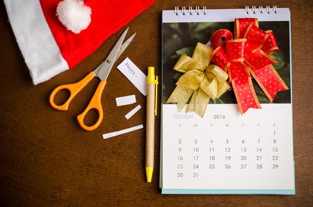 calendario octubre: October calendar of 2016 Foto de archivo