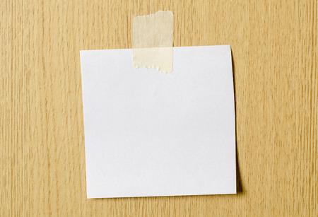 memorise: Blank paper card stick on wall