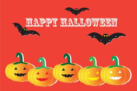 halloween background: Happy Halloween vector background Illustration