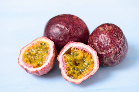 Fresh passion fruit, tropical and healthy fruit