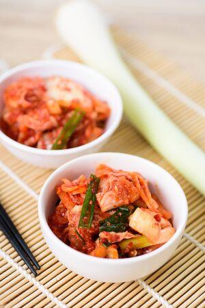 Kimchi cabbage in a bowl, Korean food Zdjęcie Seryjne