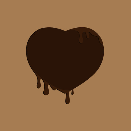 Heart chocolate icon.