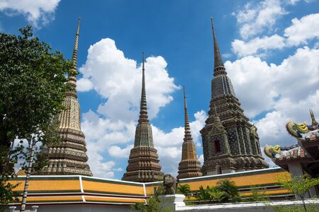 wat pho: Four pagoda at wat pho