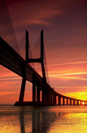 The biggest bridge in Portugal connect Lisbon with the south photo