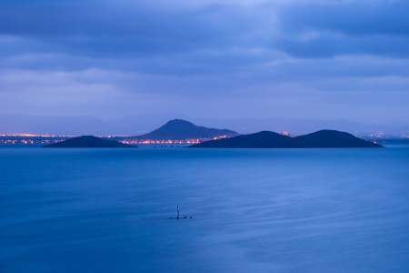 light maldives: This islands in La Manga when under the moonlight are unique and beautiful