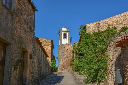 Figueira de Castelo Rodrigo, Portugal - 09 10 2014: View at interior fortress on medieval village of Figueira de Castelo Rodrigo and medieval buildings Editoriali