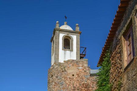 Figueira de Castelo Rodrigo, Portugal - 09 10 2014: Detailed view at interior fortress tower on medieval village of Figueira de Castelo Rodrigo Editoriali