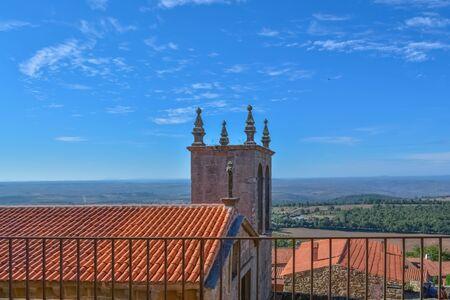 Figueira de Castelo Rodrigo, Portugal - 09 10 2014: View of a catholic old church inside the medieval village of Figueira de Castelo Rodrigo Editoriali