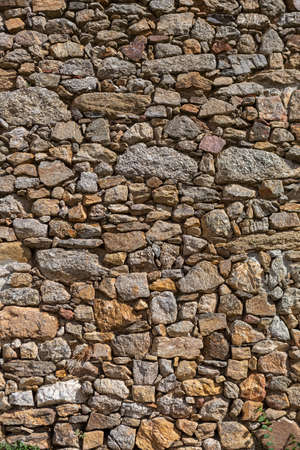 Architecture textures, detailed wall masonry schist and granite mix...