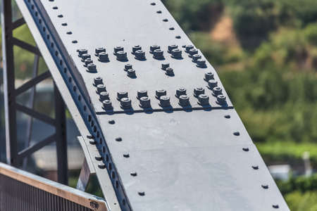 Detailed view of a metallic structure bridge