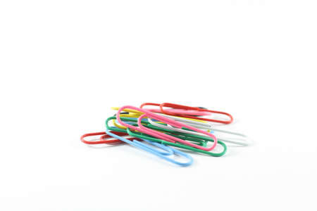 paper clips: Several paper clips with rainbow colors