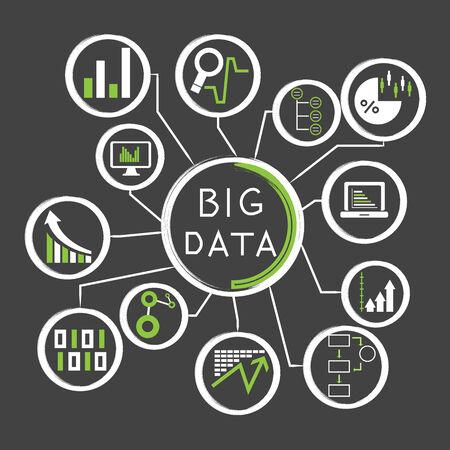 big data: Big Data vector Illustration