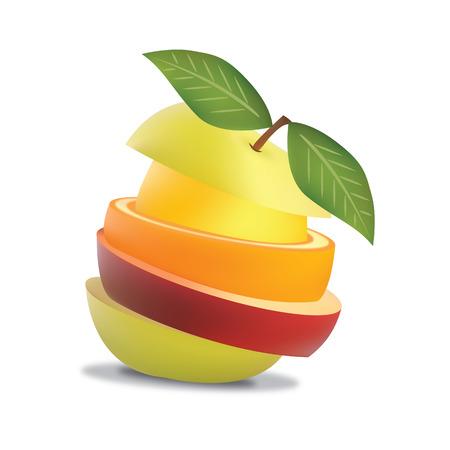 Fruit Slide vector Vector