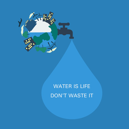 water flowing: Water is Life, Don\