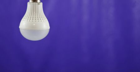 radiant light: LED Light bulb save electricity and heat. soft focus. Stock Photo