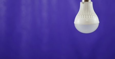 lucid: LED Light bulb save electricity and heat. soft focus. Stock Photo