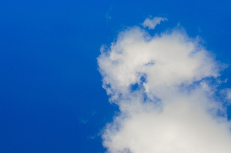The white clouds and blue sky. Brightness In the daytime.