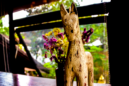 Horse statue in the coffe shop, Chiangmai, Thailand