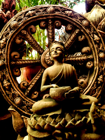 Thera Upagupta was a disciple of Buddhas attendant Ananda of the conquered Mara. Stock fotó