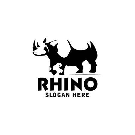 rhino logo vector design template