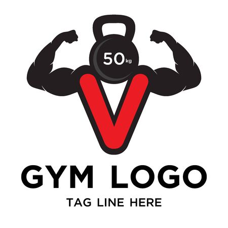 strong gym logo design simple