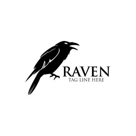 raven logo icon vector design