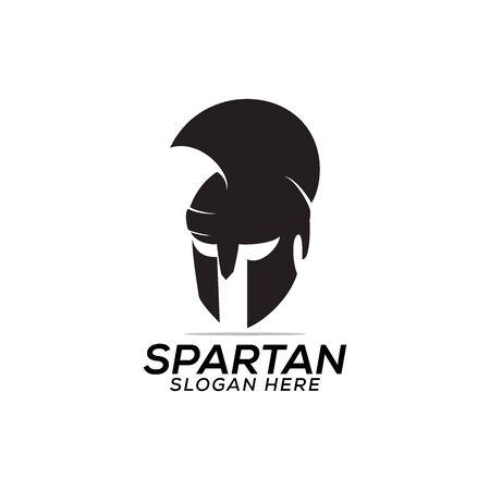 head spartan logo vector design template icon