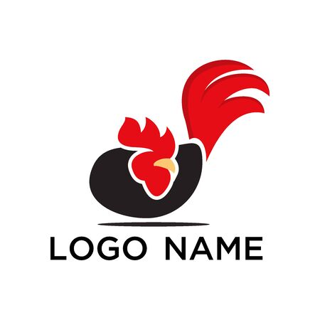 rooster logo vector design simple