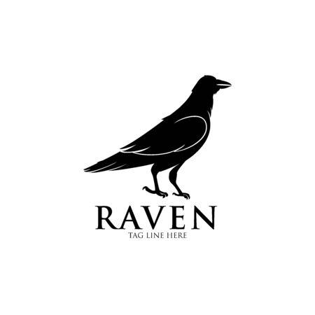 raven logo icon vector design Logo