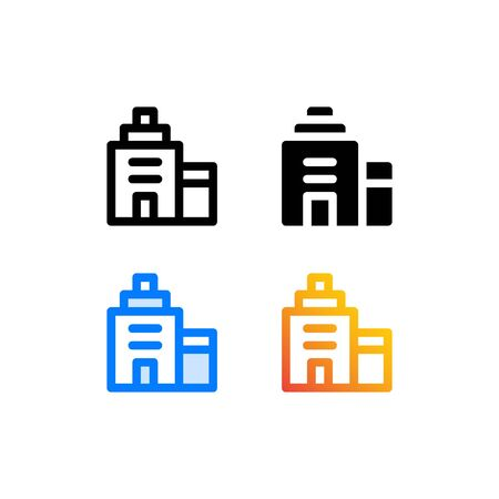 Building icon isolated on white background. for your web site design, logo, app, UI. Vector graphics illustration and editable stroke.