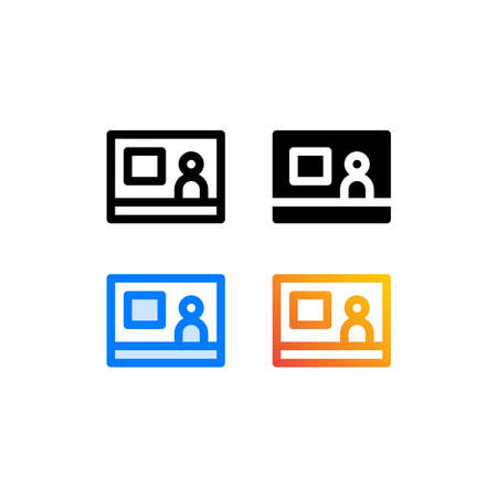 News anchor icon pack isolated on white background. for your web site design, logo, app, UI. Vector graphics illustration and editable stroke. EPS 10.