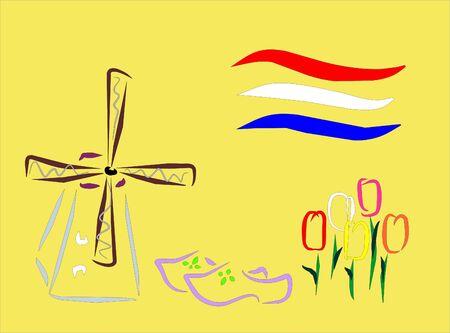 symbols of amsterdam Stock Vector - 6132347